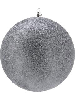 1 Pewter Grey Shatterproof Frosted Bauble