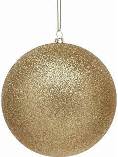 1  Gold  Frosted Shatterproof Christmas Bauble