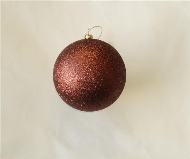 1 Brown Shatterproof Frosted Bauble