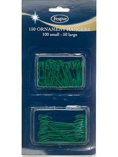 150 Green Plastic Coated Metal Hooks