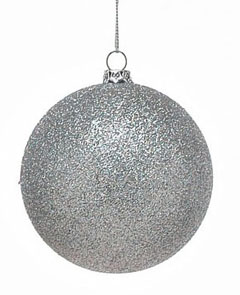 frosted baubles for Christmas trees