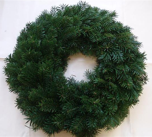 plain Christmas wreath ready for decorating