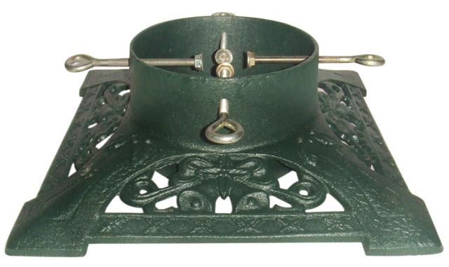Green victorian cast iron christmas tree stand scottish