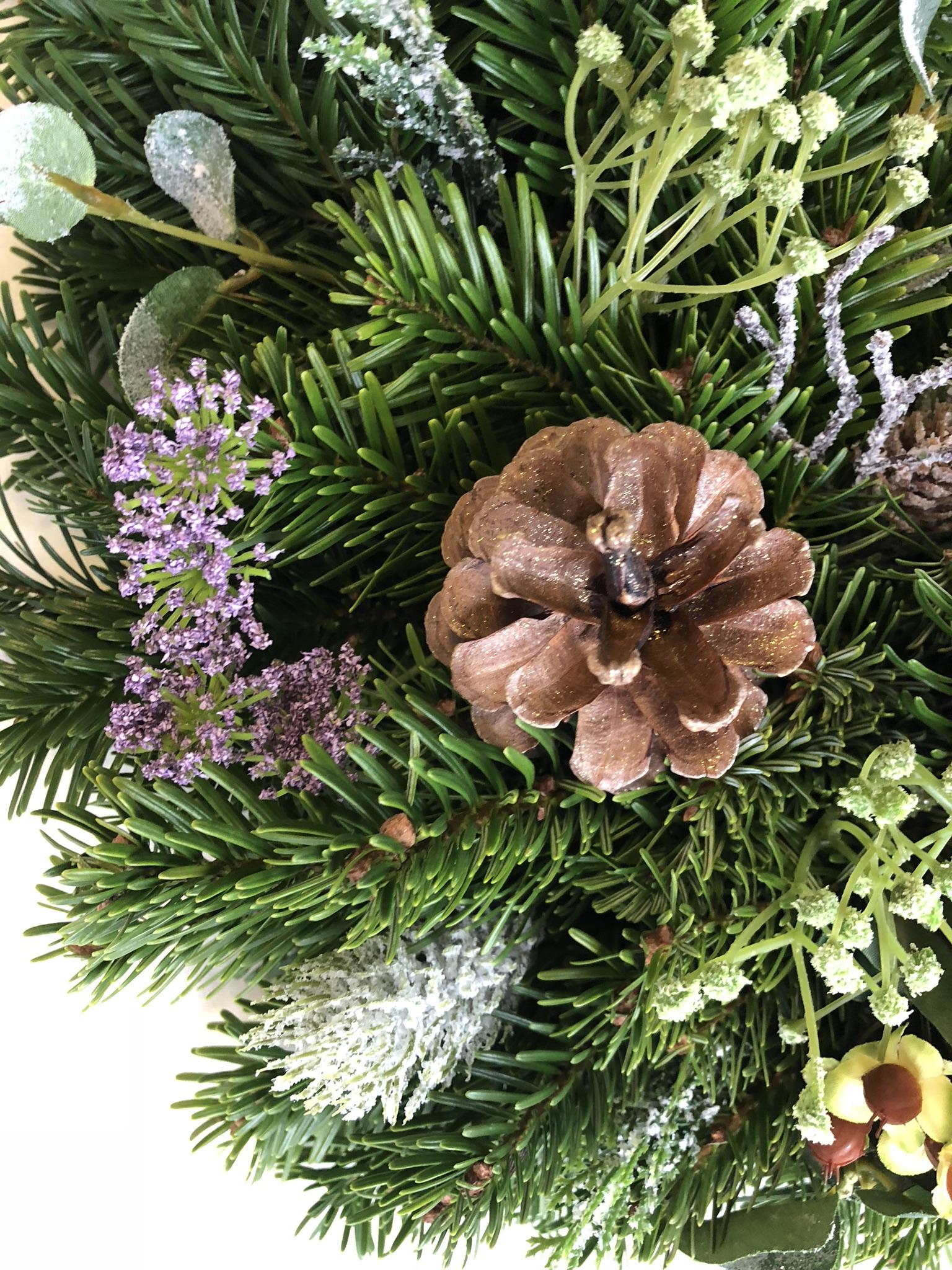 Scottish Hills And Heather Wreath Scottish Christmas Trees